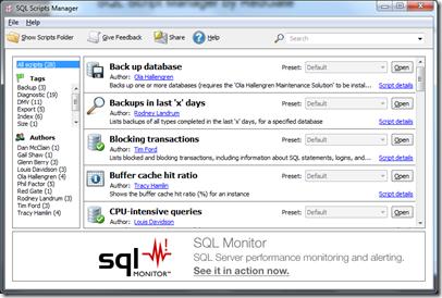 SQL Script Manager