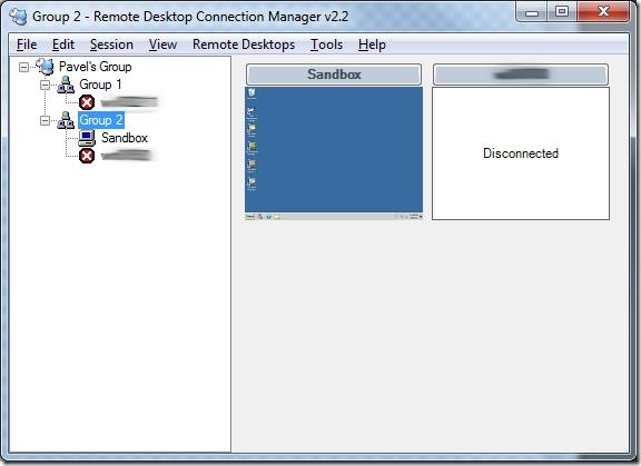 Remote Desktop Connection Manager