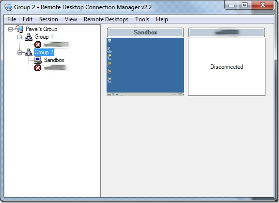 Remote Desktop Connection Manager