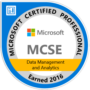 MCSE: Data Management and Analytics